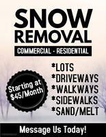Residential Snow Removal Services - Starting At $45 Monthly!!