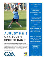 Free Kids Sports Camp August 8th and 9th