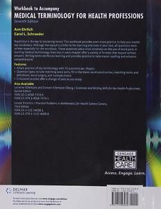 Workbook for Ehrlich/Schroeder Medical Terminology 7th London Ontario image 2