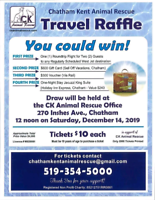 TRAVEL RAFFLE - You could win!