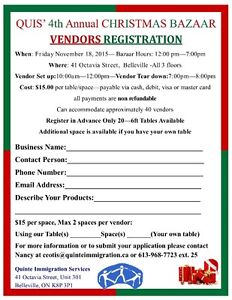Vendors / Crafters / Artists / Creators Needed Belleville Belleville Area image 3