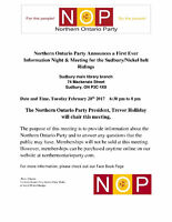 Northern Ontario Party Meeting