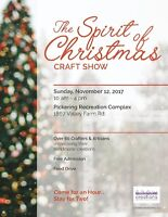 Vendors wanted -  Craft show - Pickering - Spirit of Christmas