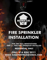 FIRE SPRINKLERS FOR YOUR HOME- CALL NOW (416-824-5911)