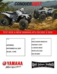 YAMAHA ATV AND SIDE X SIDE DEMO RIDES