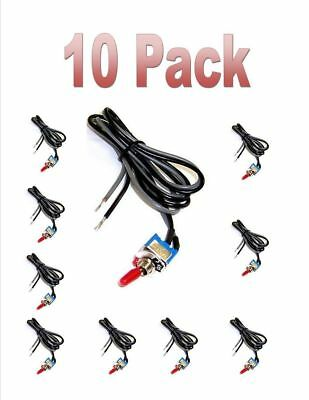 Spst Toggle Switch Car 12v On Off Automotive Switch Automotive Rc Hobby 10 Pc