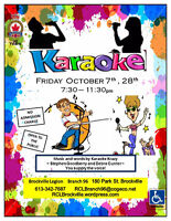 Karaoke 7:30pm Friday  October 7th, 28th