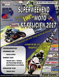 TRACK DAY MOTO: LE SUPERWEEKEND 100% MOTO ST-FÉLICIEN 2017