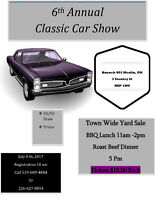 Car Show and Town Wide Yard Sale Vendors needed