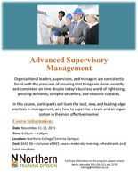 Advanced Supervisory Management