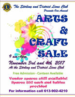 Stirling and District Lions Club Annual Arts and Crafts Sale