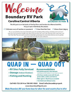 BOUNDARY RV PARK/LOTS FOR LEASE/WEST COUNTRY/QUAD IN QUAD OUT Edmonton Edmonton Area image 1