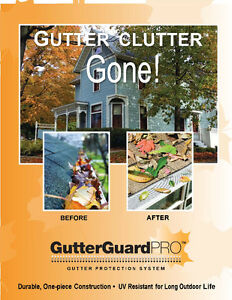 Gutter leaf Guard fascia board flashing gutterGuardpro stock BC