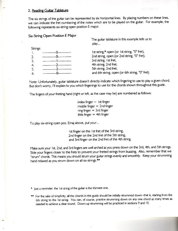 Common Six String Guitar Bar Chords The Tab Way For Guitarists