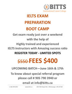 IELTS Boot Camp Special Offer