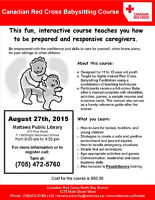 Red Cross Babysitting Course in Mattawa