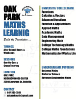 OakPark Maths Learning.....Oakville Maths Tutor.