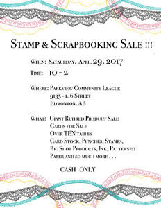 Stamp and Scrapbooking Sale
