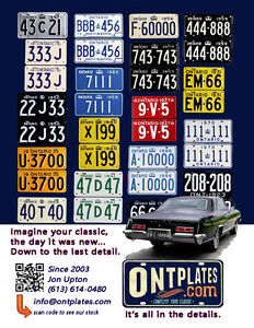 YOM Licence Plates For Your Old Auto - Ministry Guaranteed! Cornwall Ontario image 10