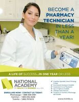 Become a PHARMACY TECHNICIAN in less than a year!