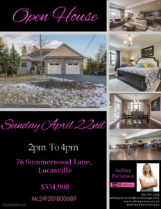 Open House This Sunday! April 22nd, 76 Summerwood Lane