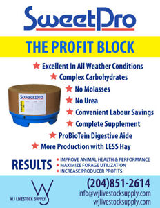 SweetPro Supplement Blocks for horses & cattle