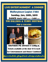 Mallorytown Legion Live Entertainment & Dinner Jan 20 2019
