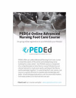 Offering Online PEDEd Advanced Nursing Foot Care Course!