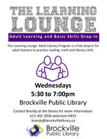 THE LEARNING LOUNGE @ THE BROCKVILLE PUBLIC LIBRARY