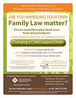 Changing a Child Support Order Workshop