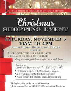Christmas Shopping Event in support of Big Brothers Big Sisters Stratford Kitchener Area image 1