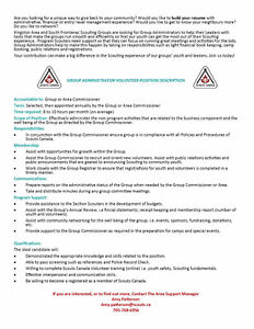 Administration Volunteers - Scouts Canada