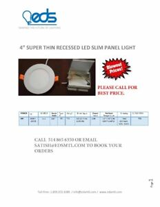 """LED 4"""" SUPER SLIM PANEL DIMMABLE"""