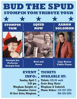 Bud the Spud Tour with Stompin Tom tribute
