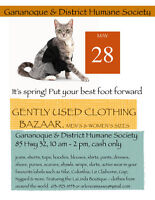 Gently Used Clothing Bazaar Gananoque & District Humane Society