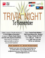 """A Trivia Night to Remember"" in support of Easter Seals"