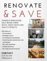 Renovate & Save! Ask for your Free Estimate Today (519) 569-0883