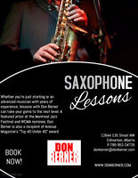 Saxophone, clarinet, flute, and improv lessons available!