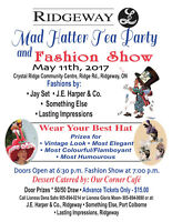 Ridgeway Lioness Mad Hatter Tea Party and Fashion Show