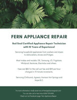 Appliance Service and repair Chilliwack, Hope, Agassiz