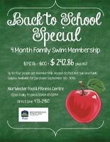 4 MONTH FAMILY SWIM MEMBERSHIP