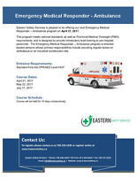Emergency Medical Responder- Ambulance Training