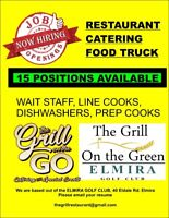 15 positions.  Wait staff, Line cooks, dishwasher
