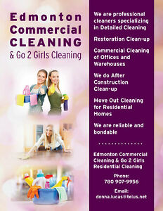 Edmonton Commercial Cleaners & Go 2 Girls Cleaning