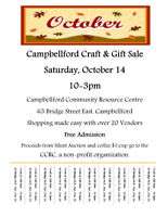 Vendors Wanted, Campbellford Craft & Gift Sale