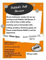 FIDDICK'S FALL BAZAAR