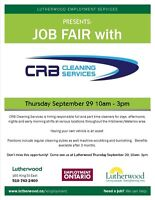 Job Fair at Lutherwood - hiring full and part time cleaners!