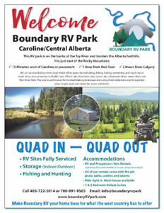 BOUNDARY RV PARK/LOTS FOR LEASE/WEST COUNTRY/QUAD IN QUAD OUT Po