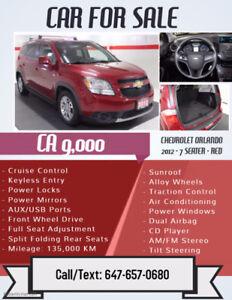 2012 Chevrolet Orlando SUV - 7 SEATER