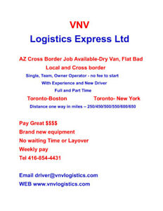 AZ driver and Owner Operators Local and Cross Border